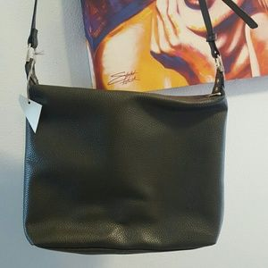 NWT dark olive green purse